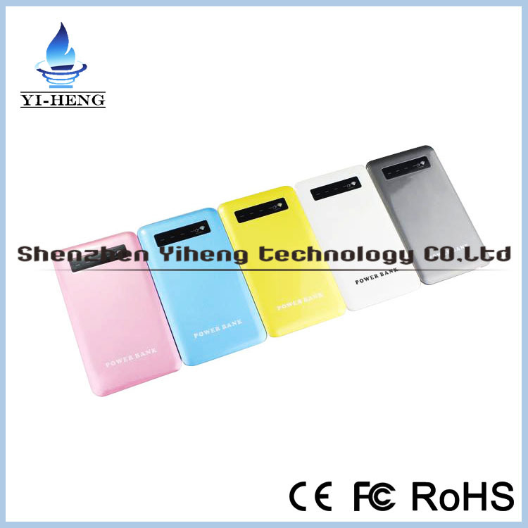 New design high quality 8000mah led light digital display power bank <strong>mobile</strong> charger for samsung
