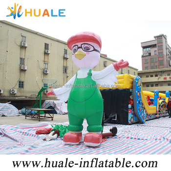 Giant advertising inflatable pigeon/inflatable cartoon character with glasses