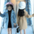 New design fashion kids winter children cloth warm girls coat kids fur waist woolen coat