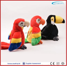 2016 Yangzhou new talking parrot plush toy christmas talking toys
