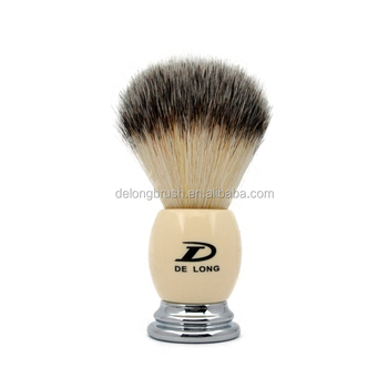 High Quality Resin + Chrome Base Handle with Synthetic Hair Shaving Brush