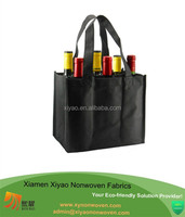 non woven 6 bottle wine tote bag