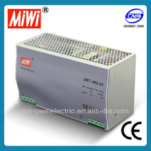 MiWi 480W (DRT-480-48) CE Approved Industrial Din Rail Switching Power Supply