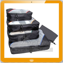 4 Set Packing Cubes, Travel Organizers with Laundry Bag