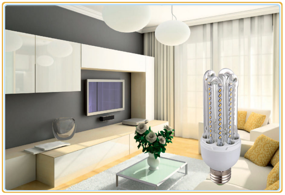 U shape led corn light bulb e27 b22 2u 3u 4u