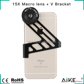 Professional Close-up Lens 20X HD Macro Lens Clip On Cell Phone Camera Lens for iPhone 6S Plus Huawei P9