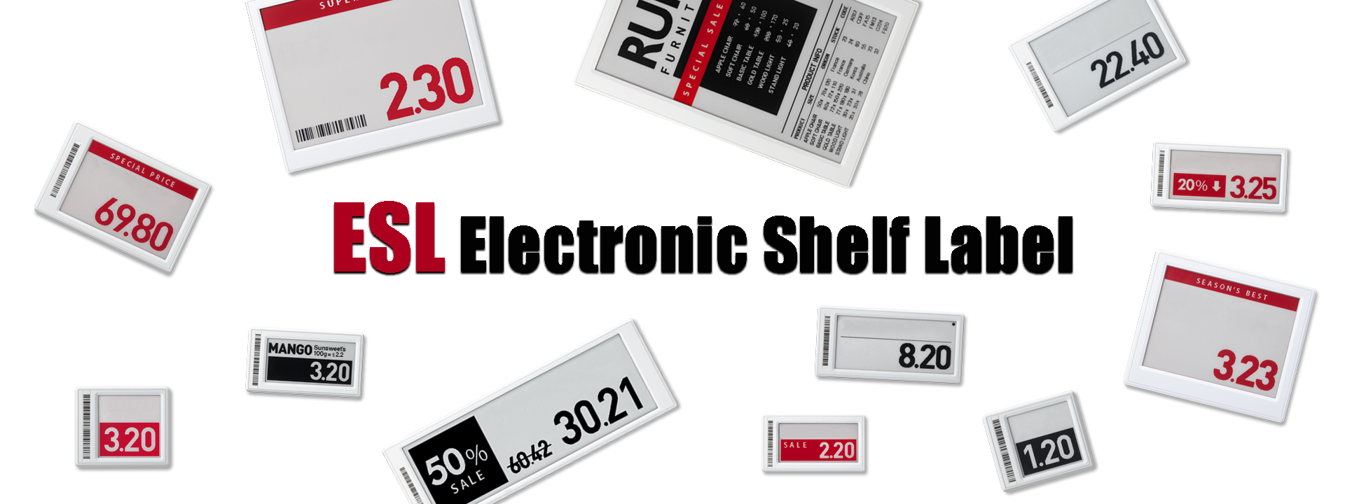 Wireless Transmission  Electronic Shelf Label ESL For Pharmacy, Logistic Solutions