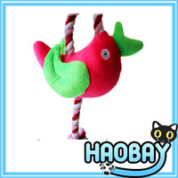 2017 Very cute bird hanging plush pet toy