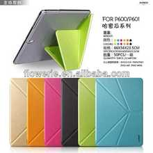 FL006 hot selling Cantaloupe wallet leather case for Galaxy Note 10.1 2014 Edition P600