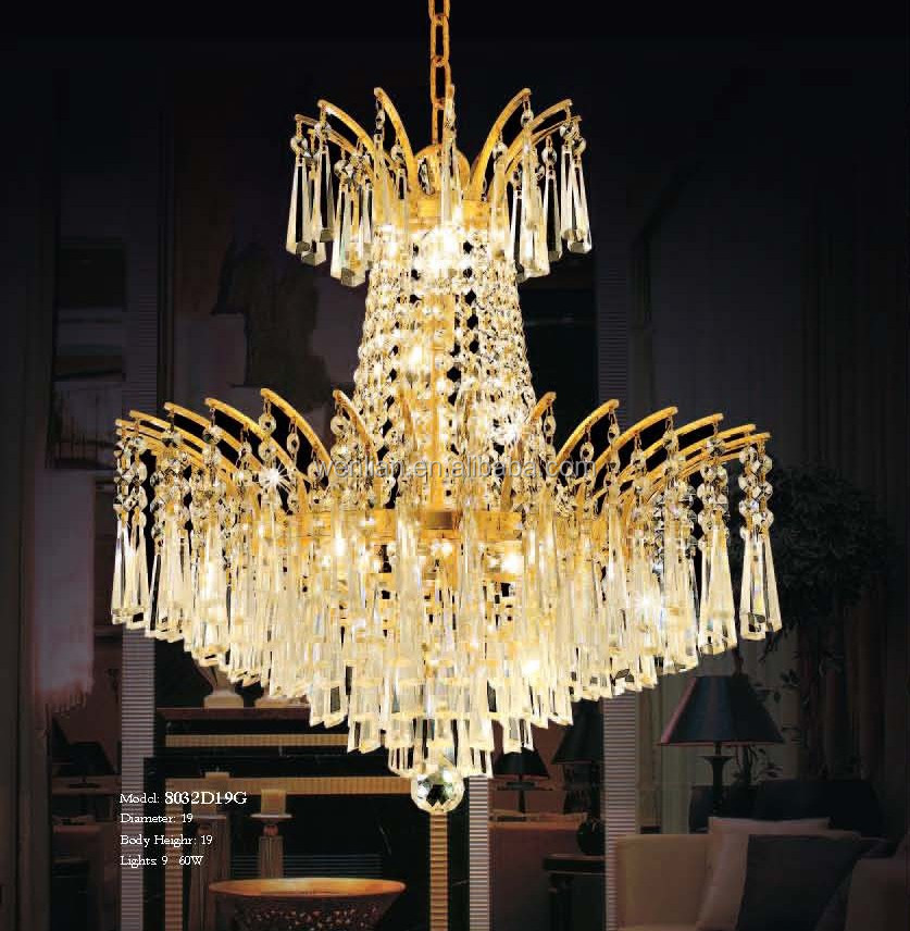 high-end luxury chandeliers lighting for lobby or hotel