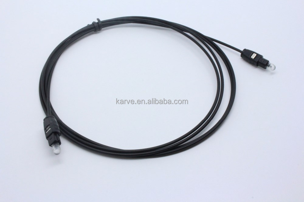 Best quality factory price 1M black OD2.2 Digital optical audio <strong>cable</strong>
