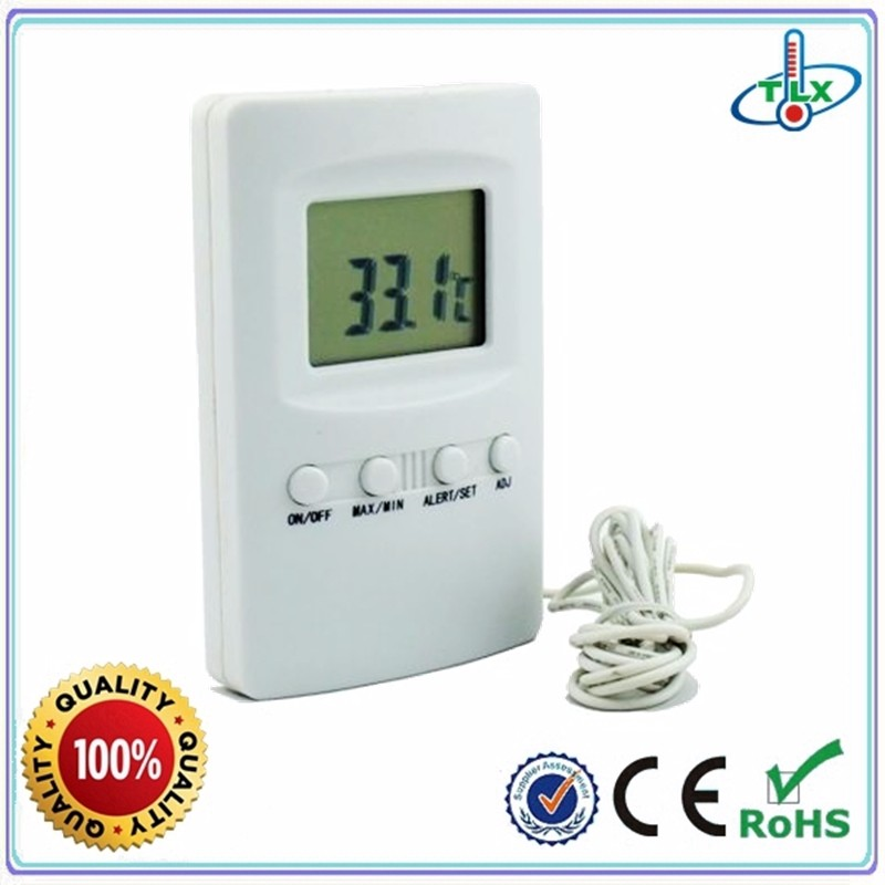 TL8027   High & Low Temperature Alarm Refrigerator Freezer Fridge Thermometer With Magnet