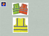 EN471 Standard Reflective vest/safety jacket with reflective stripes in different colours