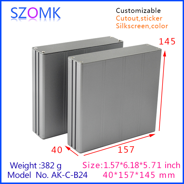 TOP quality electronic power box PCB custom Extruded aluminum enclosure