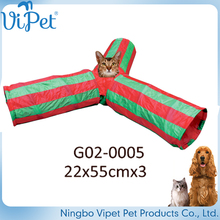 Eco-Friendly Feature and Pet Toys Type 3 Way Cat Tunnel