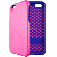 Combo Hard Plastic with Soft Rubber Case for iPhone 6
