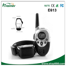 super range remote control dog training product vibration no bark shock control collar with 2 dogs