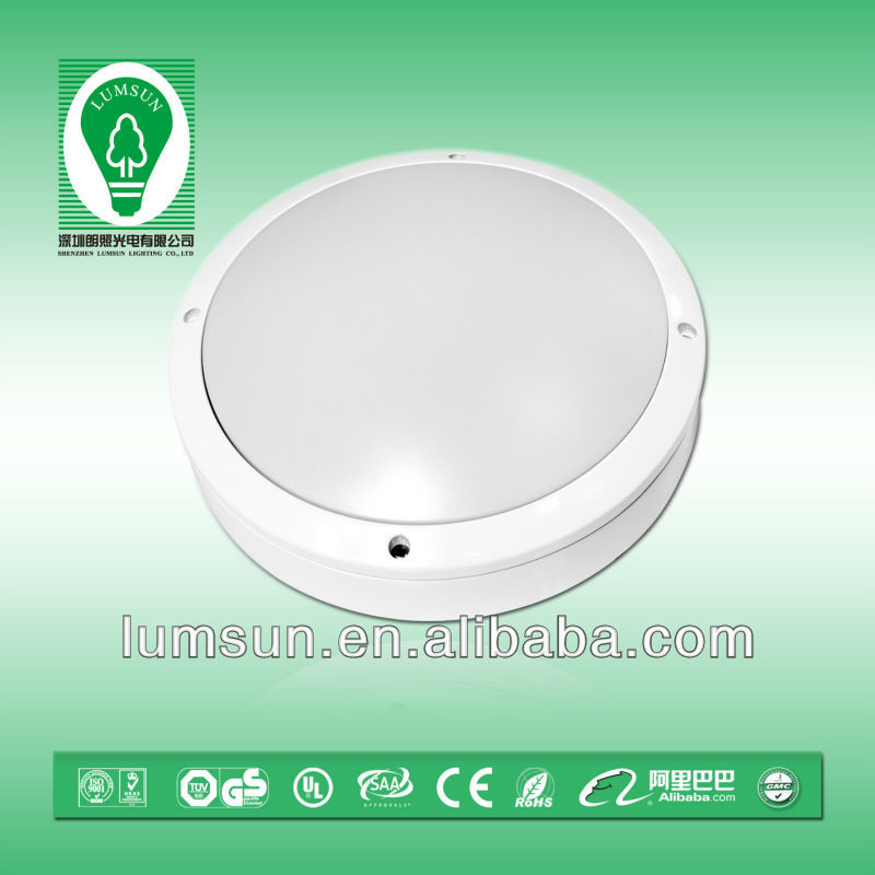 3000K square led ceiling lamp with sensor super bright IP65 outdoor , 20W/30W LED outdoor lighting ,oudoor ceiling light