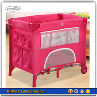 Hot Sale Cute Small Size Luxury Metal Frame Baby Playpen
