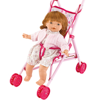 2016 new product 16 inch vinyle stuffed doll with trolley and bottle