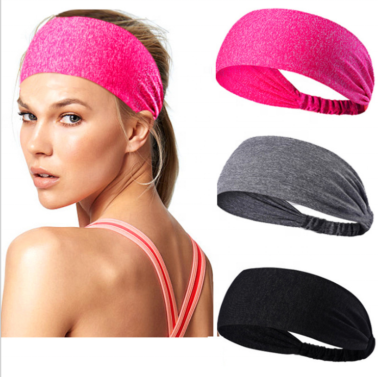 wholesale fashion hairband Non-slip Sweatband sport <strong>headbands</strong> custom women <strong>headband</strong> for yoga