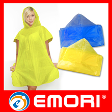 Small Factory Idea Gifts Items Waterproof PE Rain Coat Ladies