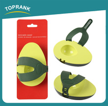 Toprank Kitchen Utensil Avocado Shaped Storage Container Food Safe Plastic Avocado Crisper Fresh Saver