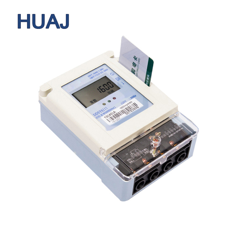 High Cost Performance Single Phase Prepaid Electric Meter Anti-Theft Energy Meter