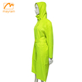 Fashion polka dots ladies high quality waterproof polyester rain jackets with hood adults womens fashion long raincoat