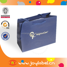 Top quality dark blue paper gift bags