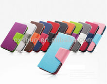 Luxury Slim Wallet PU Leather Cover Stand Case for Samsung Galaxy S4/ IV i9500