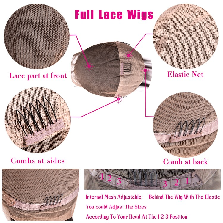 2016 New products natural looking aliexpress hair full lace wig