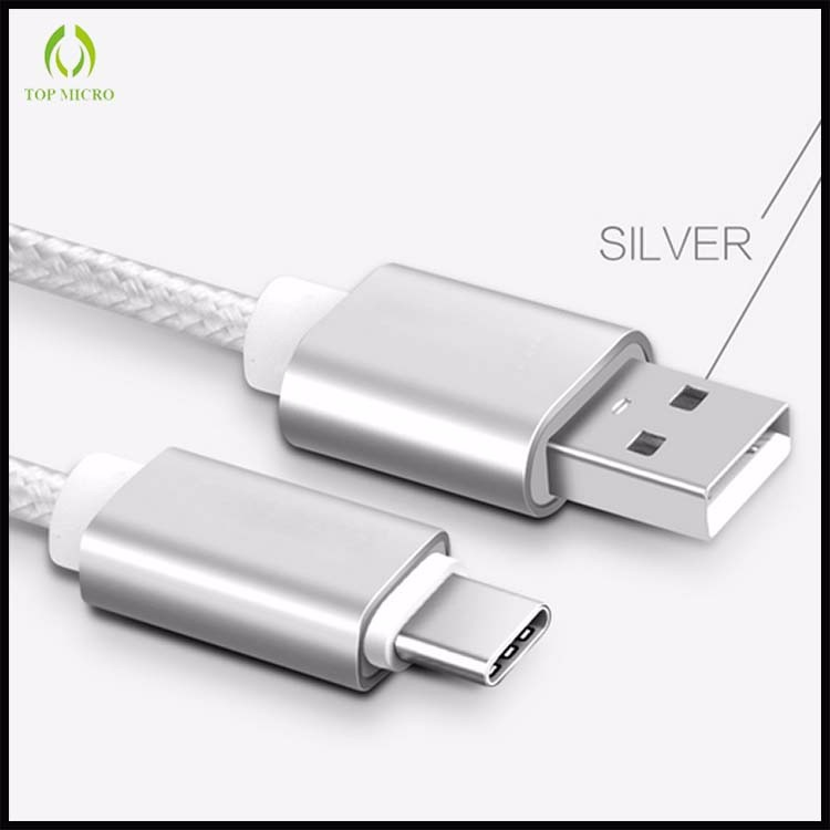 Wholesale OEM Nylon Braided Type C Quick Charge USB Data Line Cable