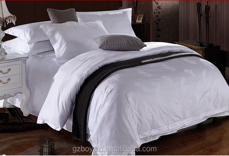 Elegant 100% cotton five star hotel flat sheet