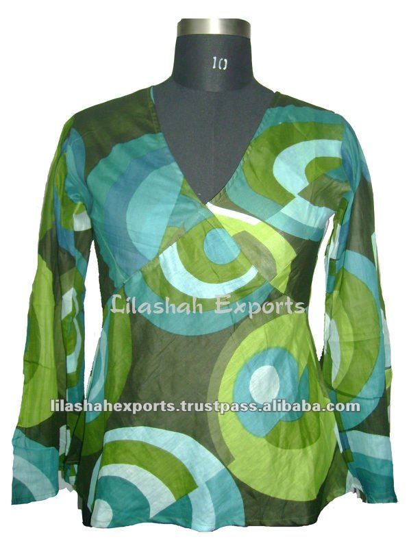 VP2004 Cotton Printed Summer Blouse Buy Tops Online,Women Tops,PrintedTops,Linen Tops Online Shopping at lilashah exports