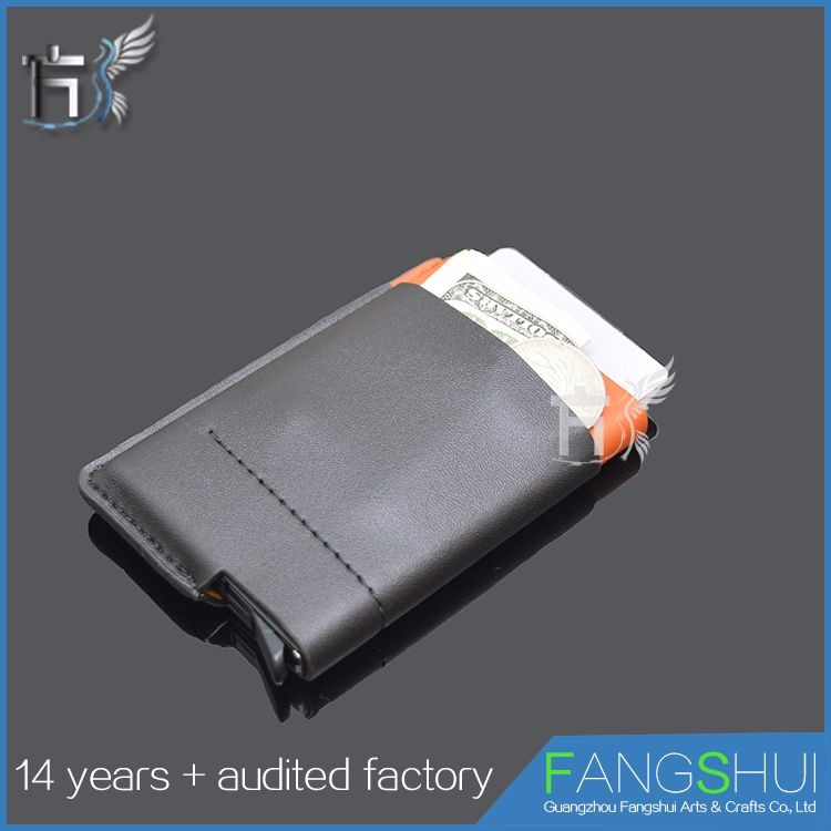 Factory price wholesale clear leather business card case