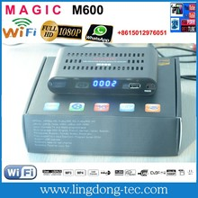 Receptor satellite digital hd MAGIC M600 with iptv 3G iks sks free for South America