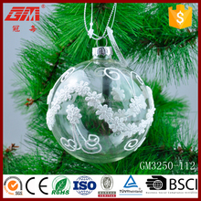 Wholesale 80mm clear glass hanging ball crafts with fabric