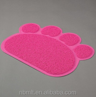 Small quantities acceptable cat litter trapper mat BPA free pvc pet coling mat for small pets