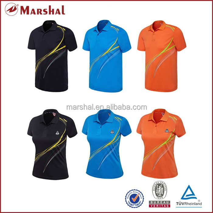 Chian Table Tennis Uniform for Couple Wholesale Tennis Apparel