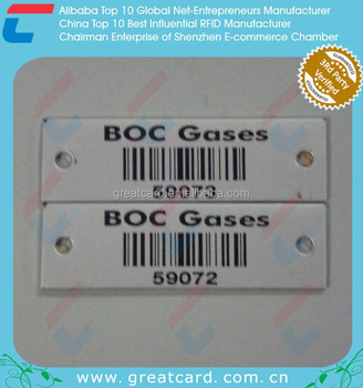 2016 Black Anodized Barcode Aluminum Metal Label with small metal tags
