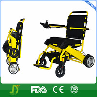 Aluminum frame electric wheelchair with brushless motor
