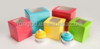 Various Color Customized Printed Wholesale Cupcake Boxes