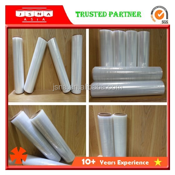 100% new row material pallet LLDPE plastic shrink wrapping stretch film