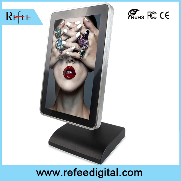 10 inch tabletop android wifi advertising player, battery powered lcd monitor