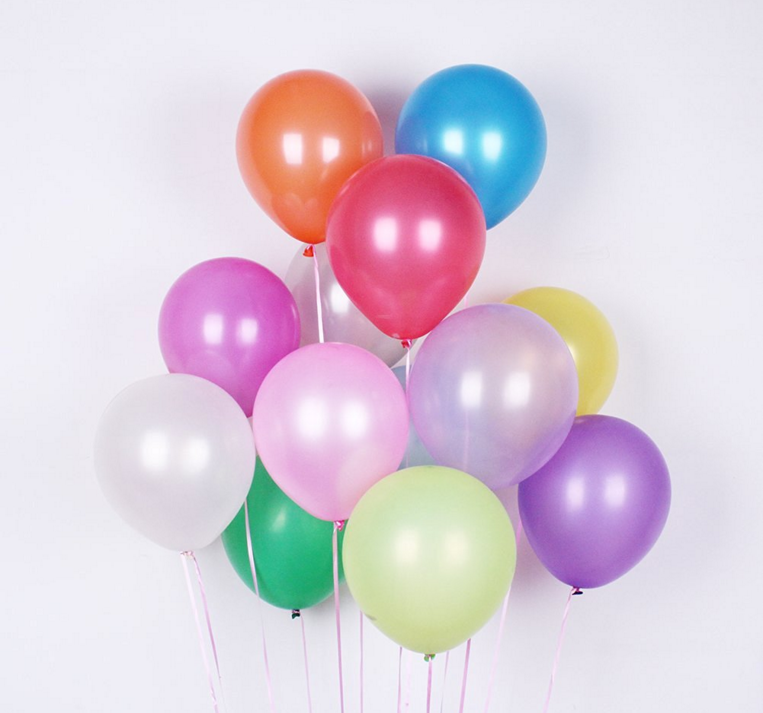 metallic colors rubber latex balloon helium balloons