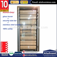 Aluminum Glass Shutter with Burglar bars & Screen