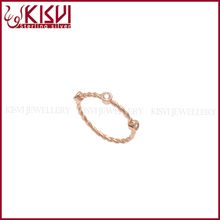 925 sterling silver rings zircon rose gold ring kisvi low price new design silver factory