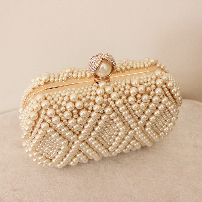 Full Pearl Beaded Ladies Purse Evening clutch bags for women wedding party
