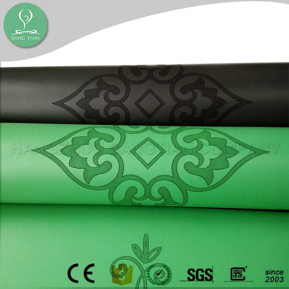 Best kids or adult pattern printed natural rubber a yoga mat wholesale china with carrying strap